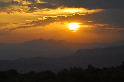 Lalibela sunset