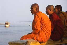 Monks in Phnom Penh